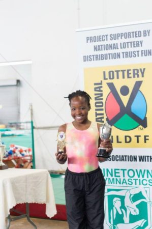 Paton Girls Trophy - Most Improved Levels 4+ - Winner : Samke Madlala Improved by : 1. 8 marks