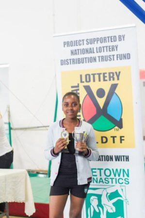 Phyllis Trophy – Best Vault - Winner : Lifa Mhlongo (L1) Ave : 9.5 (Provincial Festival)