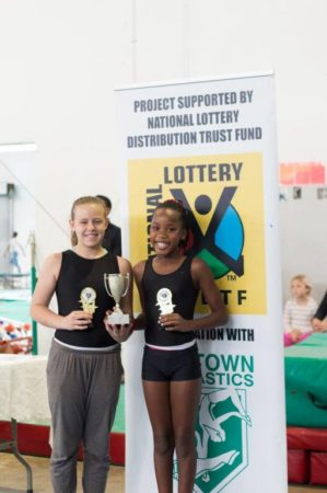 "Handstand Trophy - Winners : – Tie 6 ""wins"" Khethlo Ngcobo & Ashley Mitchell"